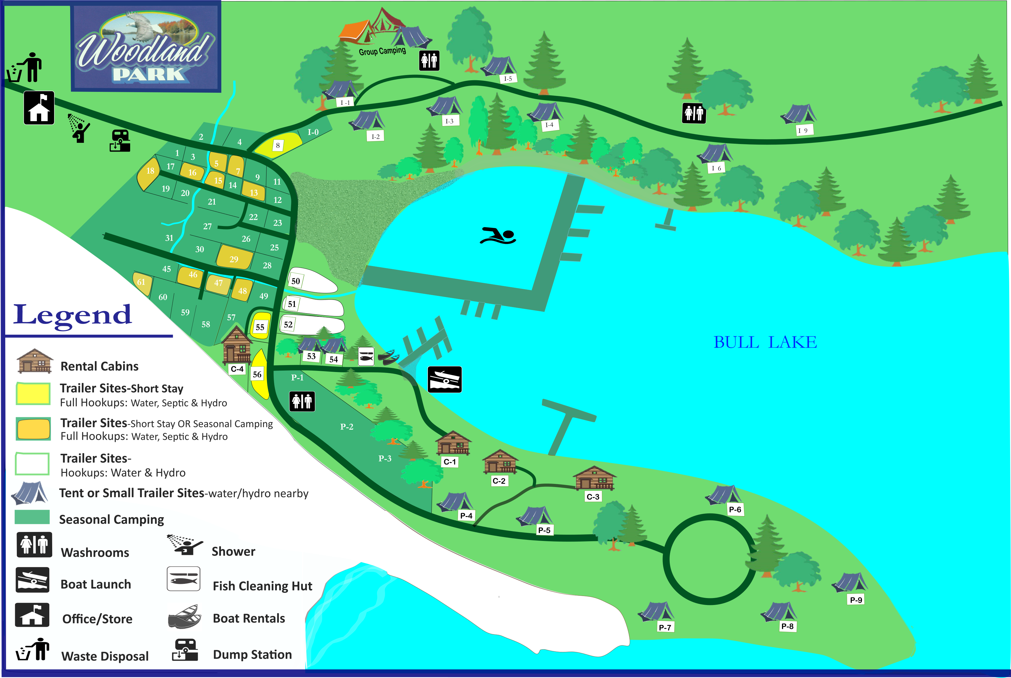 Woodland Park Arden Site Map